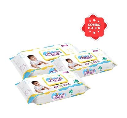 Savlon Twinkle Baby Wipes Pouch - 80 Pieces (SA61) (3 Pieces Combo)