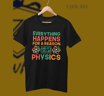Everything Happens Half Sleeve Cotton T-shirt ZNTH-203