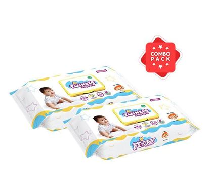 Savlon Twinkle Baby Wipes Pouch - 120 Pieces (SA62) (2 Pieces Combo)
