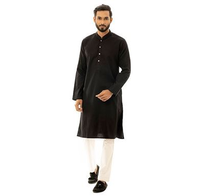 Twelve Clothing Blended Punjabi for Men BLK JS-PANB-TM21-05F-0185