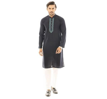 Twelve Clothing Cotton Punjabi for Men BLK SB-PAN-E-TM20-05F-149