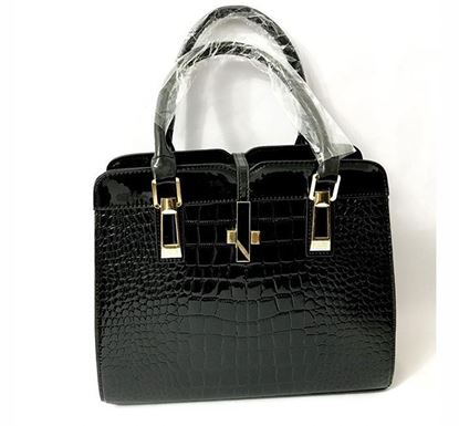 PU Leather Bag for Ladies BLK