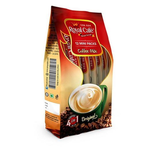 Royal Cafe 4 in 1 Instant Coffee Mix Mini Pack - 12 Sachets