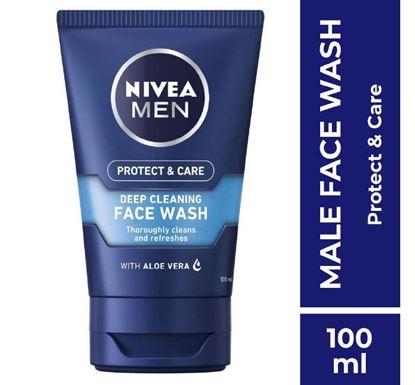 NIVEA MEN Protect & Care Deep Cleaning Face Wash 100ml (81387)