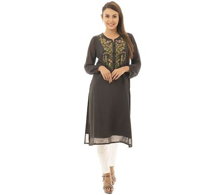 Twelve Clothing Blended Kurti for Women BLK HN-KUR-TW20-05F-328