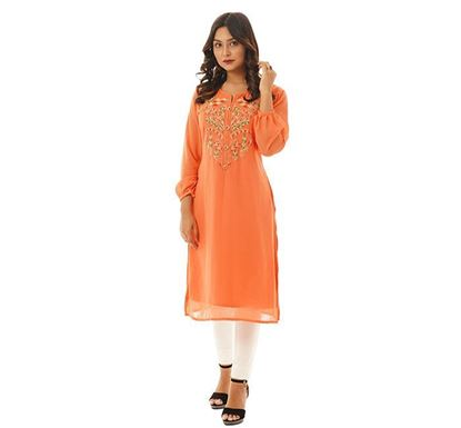 Twelve Clothing Blended Kurti for Women ORNG HN-KUR-TW20-05F-328