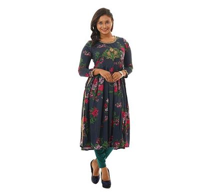 Twelve Clothing Blended Kurti for Women NVY SB-KUR-TW20-05F-0146