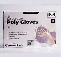 Cardinal Care Poly Hand Gloves 50 Pairs - CC2021029