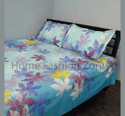 King Size Cotton Bed Sheet with Pillow Cover B-381