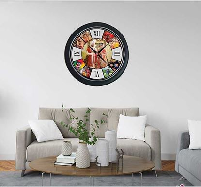 Nine Pictures Wall Clock - 24316
