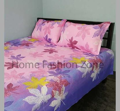 King Size Cotton Bed Sheet with Pillow Cover B-382