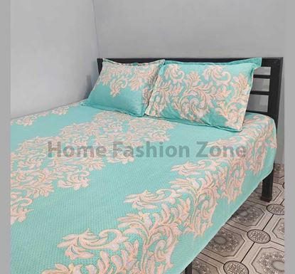 King Size Cotton Bed Sheet with Pillow Cover B-390