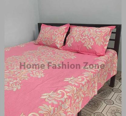 King Size Cotton Bed Sheet with Pillow Cover B-391