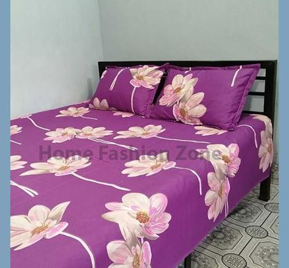 King Size Cotton Bed Sheet with Pillow Cover B-310