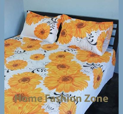 King Size Cotton Bed Sheet with Pillow Cover B-318
