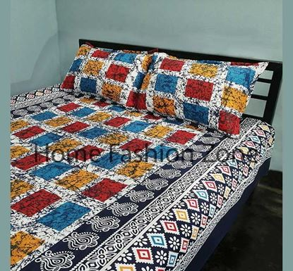 King Size Cotton Bed Sheet with Pillow Cover B-357