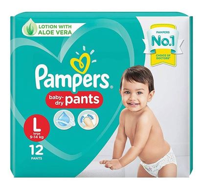 Pampers Diaper Pants Large 12 Pieces (Economy Pack)