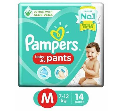 Pampers Diaper Pants Medium 14 Pieces (Economy Pack)