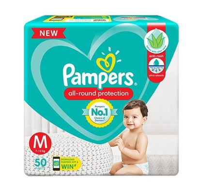 Pampers Diaper Pants Anti-Rash Lotion with Aloe Vera - M - 50 Pieces