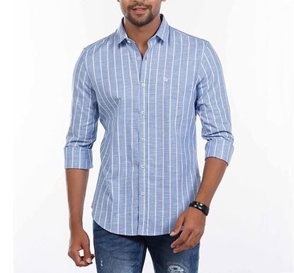 Slim Fit Cotton Striped Shirt for Men RN-FOY-SS21-SM2114