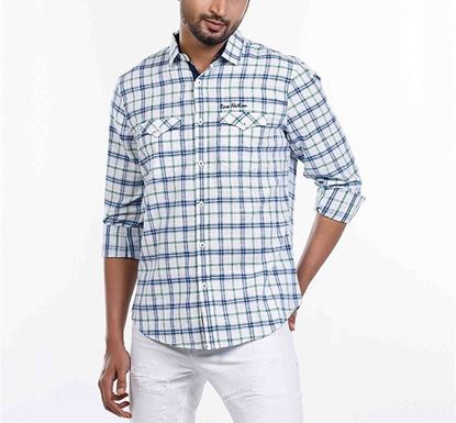 Slim Fit Cotton Check Shirt for Men RN-MEH-SS21-SM2109