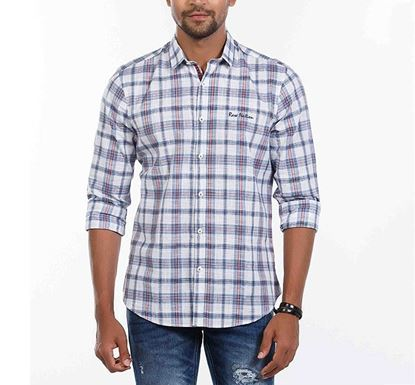 Slim Fit Cotton Check Shirt for Men RN-MEH-SS21-SM2106