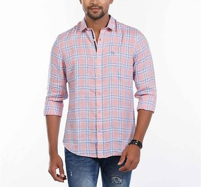 Slim Fit Cotton Check Shirt for Men RN-MEH-SS21-SM2105