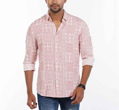 Slim Fit Cotton Printed Shirt for Men RN-FOY-SS21-SM2113