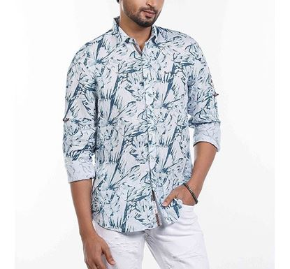 Slim Fit Cotton Printed Shirt for Men RN-FOY-SS21-SM2136