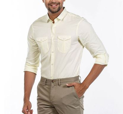Slim Fit Cotton Shirt for Men LGTYLW RN-FOY-SS21-SM2150