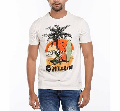 Muscle Fit Cotton Printed T-shirt for Men CRM RN-AL-SS21-MT608