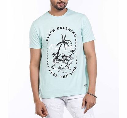 Muscle Fit Cotton Printed T-shirt for Men PST RN-AL-SS21-MT607