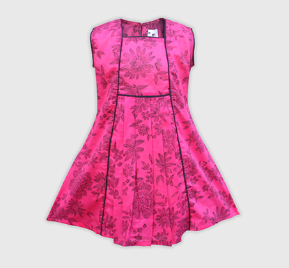 Diganta Sweet Flower Print Cotton Frock for Baby Girl SF-509