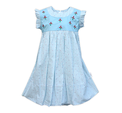 Diganta Stripped Cotton Frock for Baby Girl HF-462