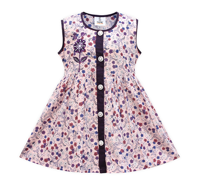 Diganta Creamy Flower Multi Print Cotton Frock for Baby Girl SF-507