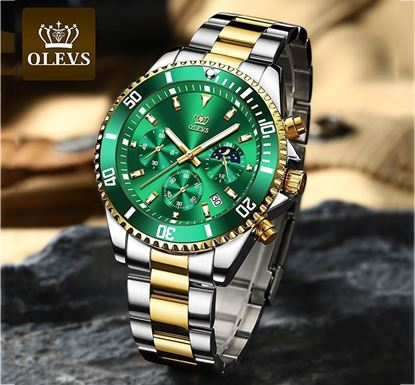 OLEVS Stainless Steel Quartz Luxury Business Watch for Men - OLV 2870 A