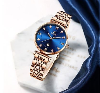 OLEVS Chronograph Quartz Stainless Steel Watch for Women - OLV 5866 A