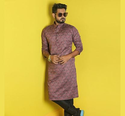 Semi Long Indian Cotton Punjabi for Men - ES1330