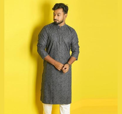 Semi Long Indian Cotton Punjabi for Men - ES1334