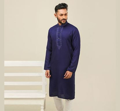 Semi Long Indian Cotton Punjabi for Men - ES1842