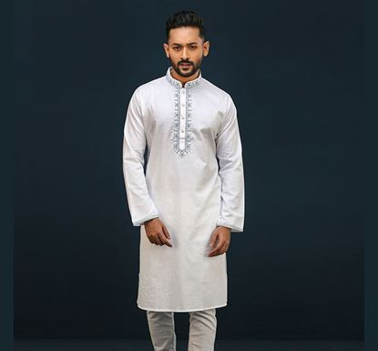 Semi Long Indian Cotton Punjabi for Men - ES1946