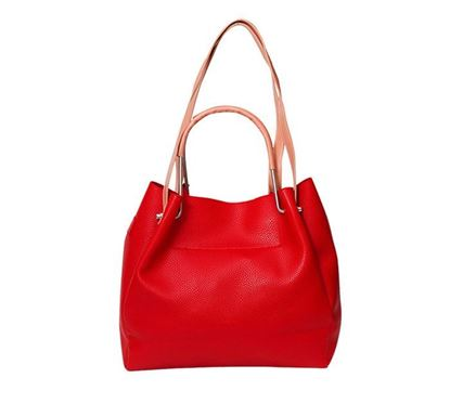 Leather Hand Bag for Ladies RB-207 RE