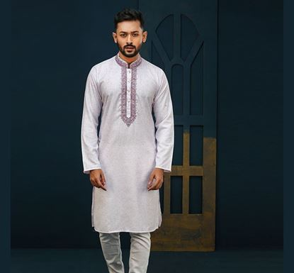 Semi Long Indian Cotton Punjabi for Men - ES2317