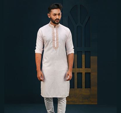 Semi Long Indian Cotton Punjabi for Men - ES2318