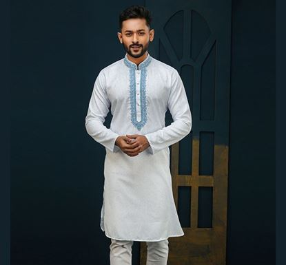 Semi Long Indian Cotton Punjabi for Men - ES2319