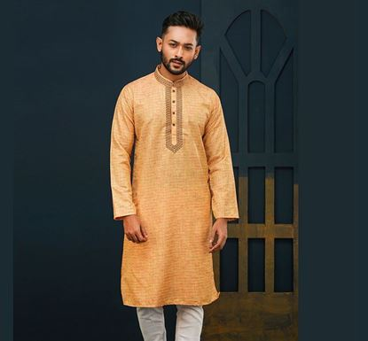 Semi Long Indian Cotton Punjabi for Men - ES2322