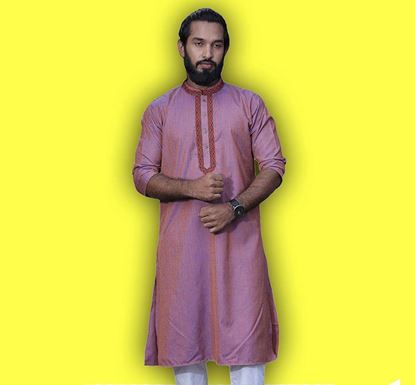 Semi Long Indian Cotton Punjabi for Men - ES2327