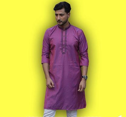 Semi Long Indian Cotton Punjabi for Men - ES2330