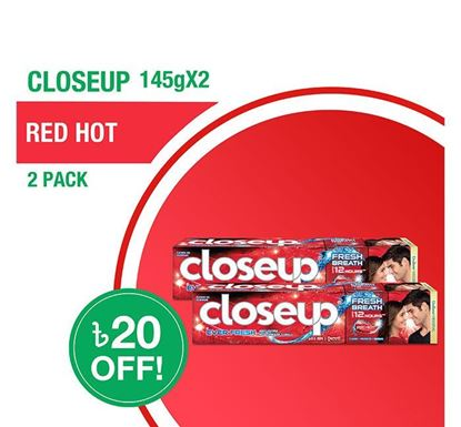 Closeup Toothpaste Red Hot 145gX2 Multipack