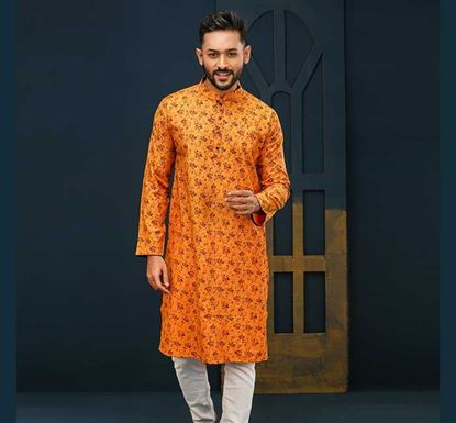 Semi Long Cotton Punjabi for Men – ES1573